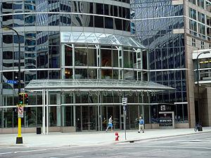 Capella Education Company - Entrance to Capella Education Corporation headquarters at 225 South Sixth in Minneapolis