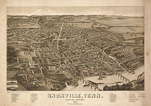 National Register of Historic Places listings in Knox County, Tennessee - 1886 Aerial Rendering of Knoxville