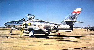 107th Fighter Squadron - Image: 107th Tactical Reconnaissance Squadron RF 84F 51 1925 MI ANG