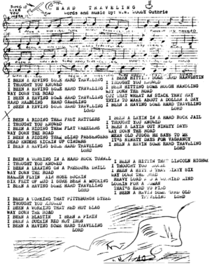 10 of the Woody Guthrie songs - Hard Traveling.png