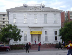 Built in 1880, the Widney Alumni House is USC's original building; it has been physically relocated twice.