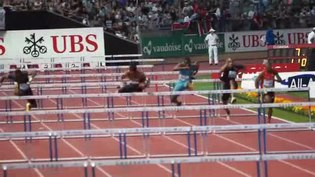 File:110 m hurdle male Athletissima 2012.ogv
