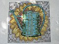 1170 Lascygasse 30-34 Stg. 2 - Mosaikhauszeichen Gießkanne von Albert Janesch 1957 IMG 4492.jpg