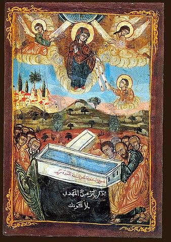 «Успение Богородицы». Коптская икона.