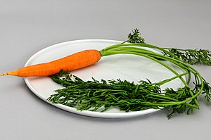 Food coloring - The orange color of carrots and many other fruits and vegetables arises from carotenoids.