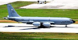 133d Air Refueling Squadron - 133d Air Refueling Squadron Boeing KC-135R Stratotanker 62-3506 taxiing at Andersen AFB, Guam, 2010