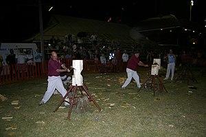 Woodchopping - Woodchopping (standing block) at the Wagga Wagga Show, Australia
