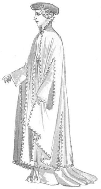 Houppelande - 15th century costume - the Houppelande