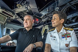 Command at Sea insignia - Image: 170703 N AF077 899 Michelle Howard and Benjamin Netanyahu in Haifa, Israel