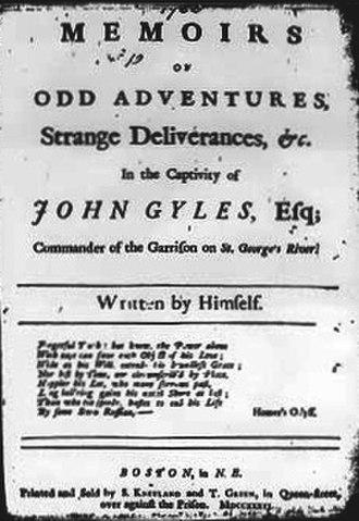 John Gyles - John Gyles Memoirs (1736)