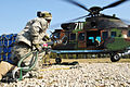 173rd Airborne Brigade Mission Rehearsal Exercise - sling load training with Bulgarian forces (7008105861).jpg