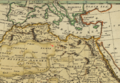 1808 Mourzouk map Africa by Robert Wilkinson BPL 14643 detail.png