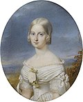 1845 François Meuret portrait of Princess Maria Carolina Augusta of Bourbon-Two Sicilies (Musée Condé).jpg