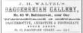 1858 J H Waltzel Daguerreian Gallery Baltimore Maryland advert.png