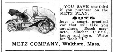 1910 MetzCo ad