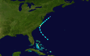1918 Atlantic hurricane season - Image: 1918 Atlantic hurricane 3 track