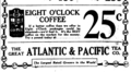 1922 Eight O'Clock Coffee ad.png