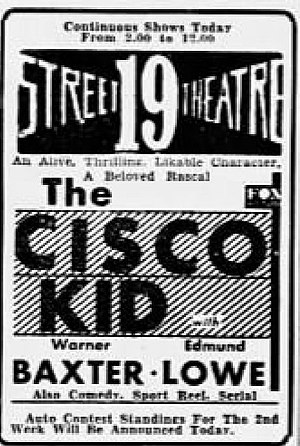 The Cisco Kid (1931 film) - Newspaper advertisement