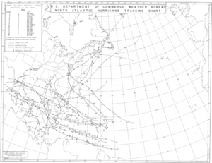 Tropical cyclone observation - Image: 1933 Atlantic hurricane season map