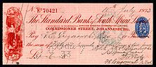 A cheque from 1933
