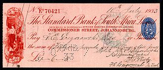 Cheque - A cheque from 1933