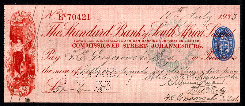 File:1933 South African cheque.jpg