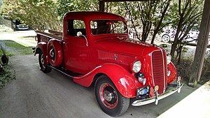 1937 Ford - 1937 Ford pickup with V8 engine.