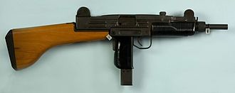 Uzi - Uzi with a wooden stock.