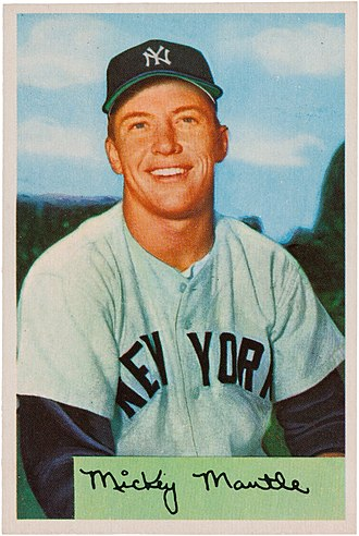 Mickey Mantle - Bowman's Mantle trading card, 1954