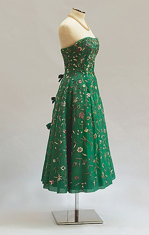 Strapless dress - Strapless dress by Yiannis Evangelides, New York, 1956. PFF Collection.