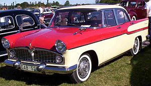 Ford Vedette - Ford Vedette ABXC Chambord (1958). The car debuted as the Simca Vedette in 1954 in France and Belgium, but in some export markets where the Simca brand had little history, it was badged as a Ford, despite the French business having been sold by Ford to Simca in 1954.