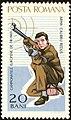 1965 European Shooting Championships, Bucharest-Rifleman-kneeling.jpg