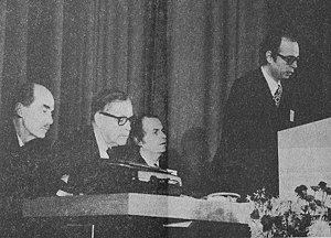 World Economic Forum - Professor Klaus Schwab opens the inaugural European Management Forum in Davos in 1971.