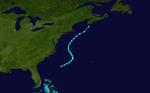 1981 Tempesta subtropicale atlantica 3 track.png