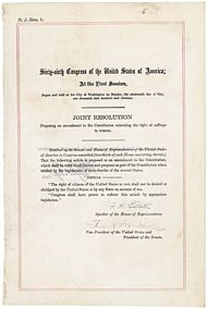 nineteenth amendment to the united states constitution nineteenth amendment in the national archives