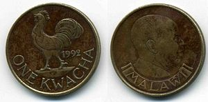 Malawian kwacha - A one kwacha coin from 1992