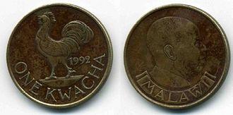 Malawian kwacha - A one kwacha coin from 1992