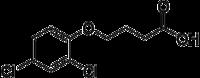 Strukturformel von 4-(2,4-Dichlorphenoxy)buttersäure