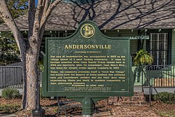 Andersonville historical marker