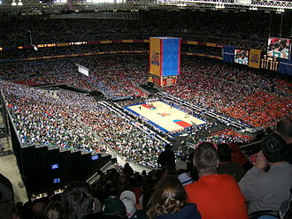 The Dome at America's Center - 2005 NCAA Basketball National Semifinal, North Carolina vs. Michigan State