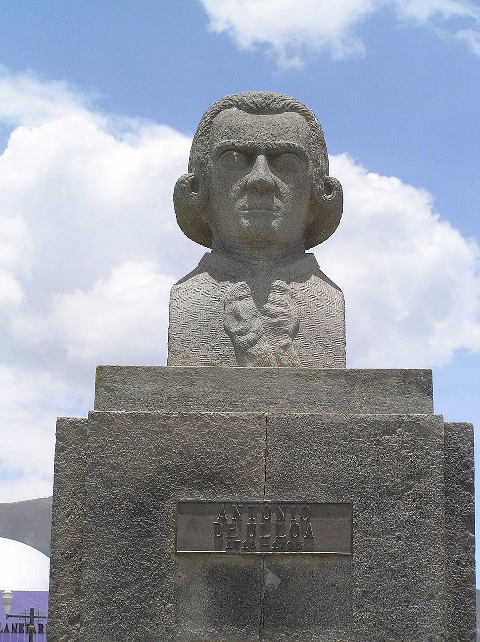 20061001 - Mitad del Mundo (busto de Antonio de Ulloa)