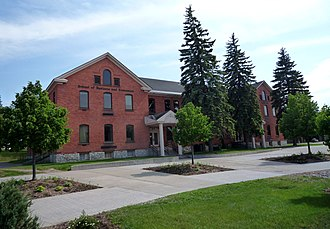 Lake Superior State University - Original barracks of Fort Brady