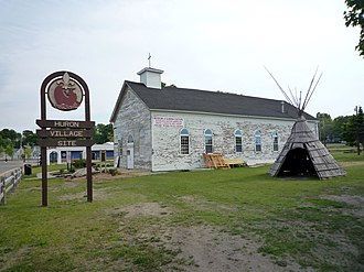 St. Ignace, Michigan - The Museum of Ojibwa Culture operates in the former St. Ignace Mission building. The mission is listed on the National Register of Historic Places. It was established at a historic Wyandot (Huron) village.