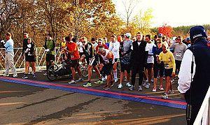 Mount Pleasant, Wisconsin - Start of the 2011 Real Racine Skeleton Skamper at Mount Pleasant Civic Campus