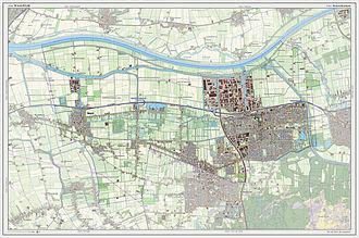 Waalwijk - Dutch Topographic map of Waalwijk, July 2013