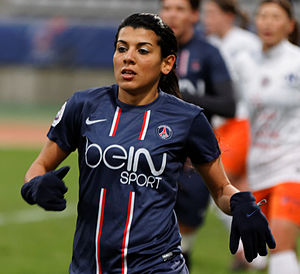 Kenza Dali - Kenza Dali during PSG-Montpellier (season 2012-2013)