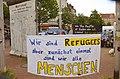 2014-06-02 Sudan Flüchtlinge Protest gegen Abschiebung, Weißekreuzplatz Hannover, (46) Mahnmal für die Opfer von Mauer und Stacheldraht, Refugees ...jpg
