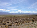 2014-07-30 11 19 29 View of Shoshone Mountain in the Toquima Range from Nevada State Route 376 (Tonopah-Austin Road) north of Carvers, Nevada.JPG
