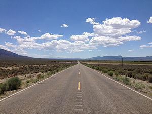 Shoshone, Nevada - View along SR 894 southbound in Shoshone