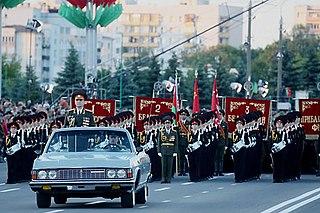Minsk Independence Day Parade event in Minsk, Belarus